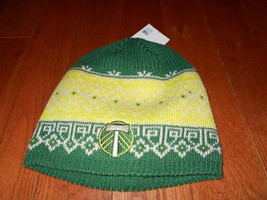 Portland Timbers adidas Soccer MLS Fair Isle Knit Beanie - Yellow/Green ... - $16.82