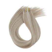 LaaVoo 14 inch Tape in Human Hair Extensions Highlighted Color Ash Blond... - $38.15