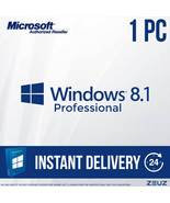 Microsoft Windows 8.1 Pro Full Retail Version 32/64-Bit - 60sec Digital ... - $26.99