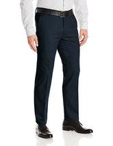 Men's Formal Slim Fit Slacks Trousers Flat Front Business Dress Pants image 8