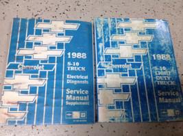 1988 Chevy Chevrolet S10 S-10 TRUCK SERVICE SHOP REPAIR MANUAL SET W EWD... - $21.71