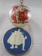 "Vintage Hallmark Keepsake 1981 Norman Rockwell Cameo Carolers + 3"" Styro Ball  - $7.91"