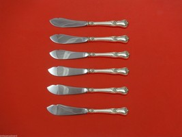 """Memory Lane by Lunt Sterling Silver Trout Knife Set 6pc. HHWS  Custom 7 1/2"""" - $366.80"""