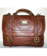 ❤️ LAND Colombian Rugged Tan Leather Briefcase Bag Vintage Attache GREAT... - $46.54