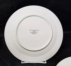 """Retroneu Calais Dinner Plates Set of 2, 10.5"""" White w Gold Trim 4173 image 5"""