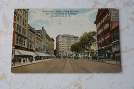 Old Antique Postcard Court St. East Security Mutual Life Insurance Bingh... - $9.99