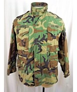 US Military Cold Weather M65 Field Jacket Woodland 8415-01-099-7834 Medi... - $29.99