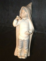 Lladro 8 inches Boy tall with Snails and Hood AA19-1630 Vintage 5 W