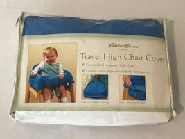 Eddie Bauer Travel High Chair Cover Blue with Zippered Storage Bag - $9.99
