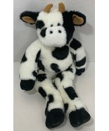 Build a Bear First Edition Cow Plush white black spots stuffed animal be... - $9.89