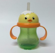 Chick Bird Toddler Kids Flex Straw Sippy Training Cup With Handles BPA Free - $9.49