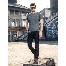 FUHAOGONGSHE2018 Spring and Summer New High-quality Black Men's Jeans Co... - $54.06