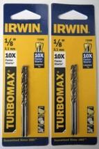 """Irwin 73308 1/8"""" Turbomax Drill Bits (2 Packs of 2) - $3.47"""