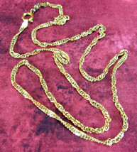 Necklace 22kt Gold Vermeil Over Sterling Silver Italian Chain Twisted Singapore  - $84.00