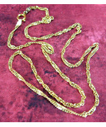 Necklace 22kt Gold Vermeil Over Sterling Silver Italian Chain Twisted Si... - $84.00