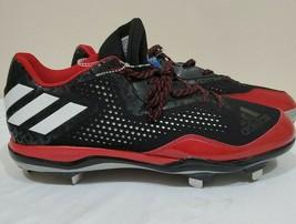 Adidas Litestrike Men's Baseball Metal Cleats Sz 16 Black Red #115835664 - $17.98