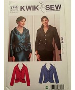 Kwik Sew Pattern 3738 Misses Fitted Jackets Shawl Collar Dressy Career S... - $8.99