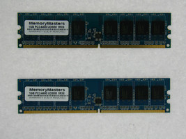 2GB 2X1GB PC6400 DDR2-800MHz PC2-6400 240PIN DIMM Non-ECC Desktop Memory TESTED