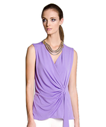 Ultra Chic Julian Chang Sevilla Draped Top in Lilac - BARGAIN PRICED! - $39.90