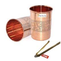 Set of 2 - Prisha India Craft  Copper Cup Water Tumbler - Handmade Water... - $18.46
