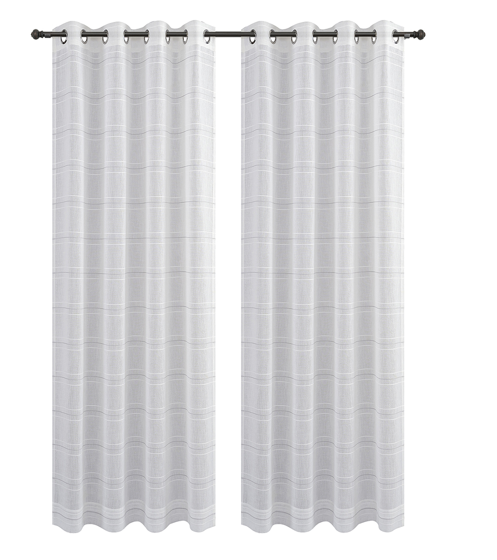 Urbanest Chamon Set of 2 Sheer Curtain Drapery Panels with Grommets image 7