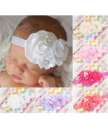 6pcs Kids Baby Girl Headband Flower Rhinestone Pearl Hair Band Head Accessories  - $7.91