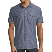 John Varvatos Star USA Men's Short Sleeve 2 Pocket Pattern Snap Shirt In... - $64.90