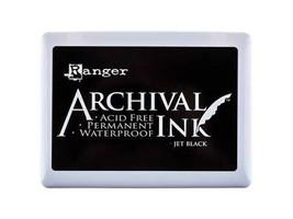 Ranger Archival Ink Pad in Jet Black, Acid Free, Permanent, Waterproof