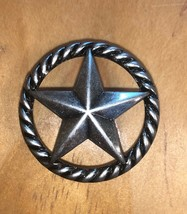 Set of 6 Star with Rope Drawer Pull, Old Silver in Color, Cabinet Knobs - $24.74