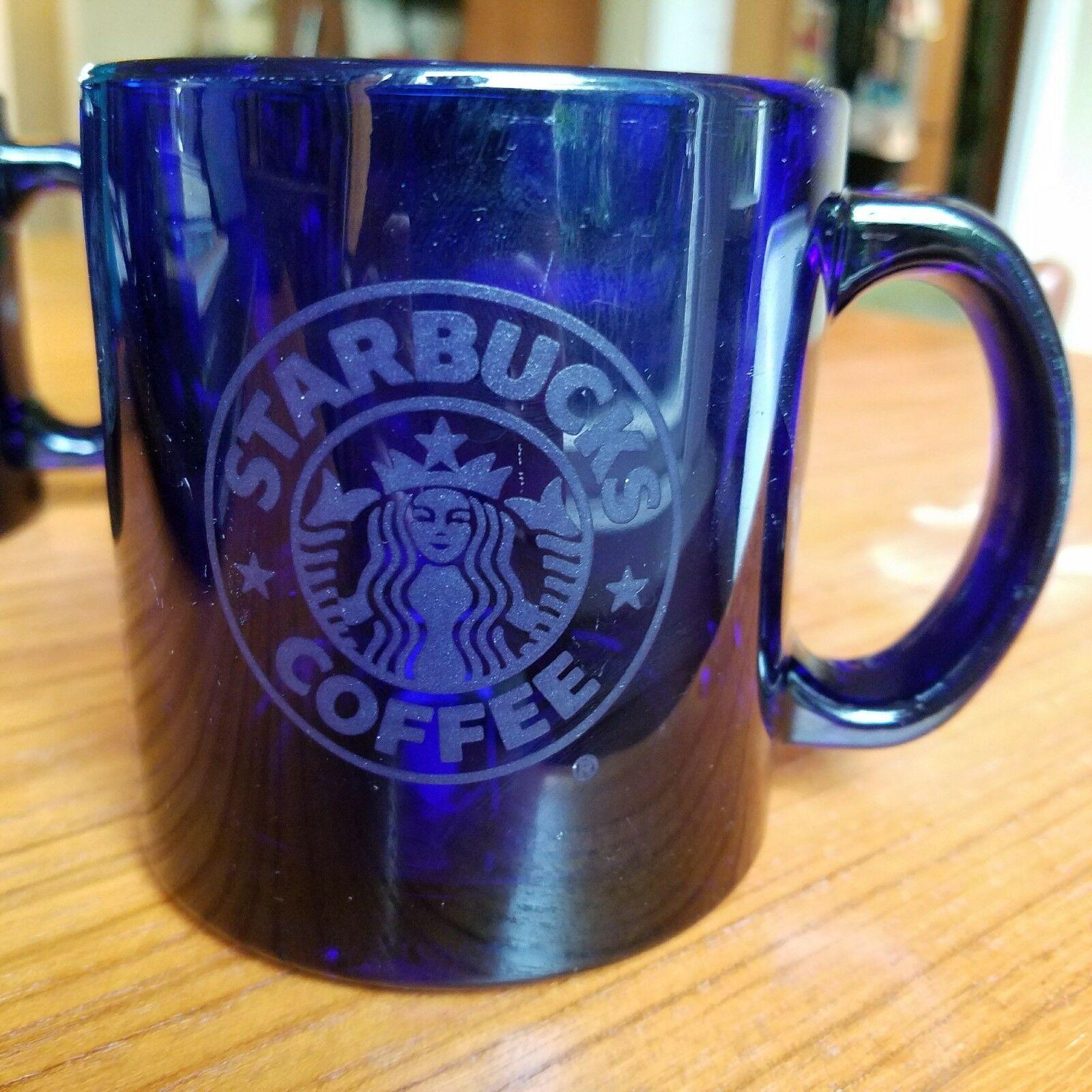Starbucks Cobalt Blue Glass Coffee Mugs Set And 18 Similar Items