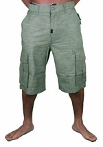 LRG Steady Rocking Men's Dark Olive Cargo Shorts Size: 28