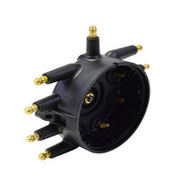 Low Profile Crab Style Replacement Distributor & Rotor Cap Male Black MSD Type image 6