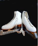 Riedell Retro Ice Skating Boot 220W 6 John Wilson Excel Blades Blade Cov... - $281.66