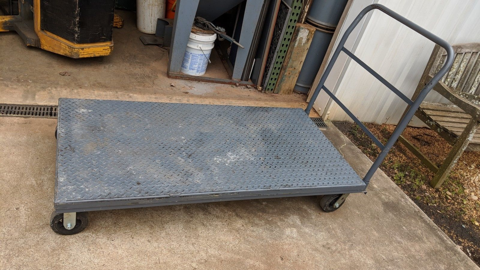30 x 60 tread plate platform truck cart swivel caster wheeled dolly