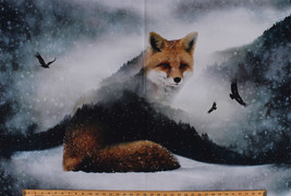"27.75"" X 44"" Panel Fox Call of the Wild Nature Digital Cotton Fabric D58... - $15.95"