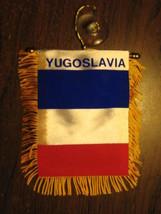 "YUGOSLAVIA FLAG MINI BANNER 4""x6"" CAR WINDOW MIRROR - $3.95"