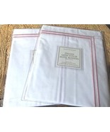New Restoration Hardware Italitan Satin Stitch Standard Shams - Blush 2 ... - $74.51