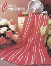 Coral Creations, Annie's Crochet Quilt & Afghan Pattern Club Leaflet QAC328-04 - $1.95