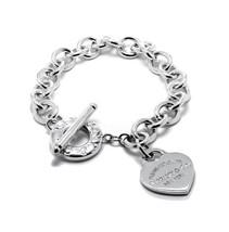 Tiffany&Co. Heart Tag Charm Bracelet with Toggle - $250.00
