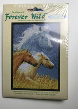 Janlynn Forever Wild Horses Counted Cross Stitch Kit #013-0314-w 5x7 - $9.90