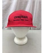 Trucker Hat Baseball Cap Vintage Snapback Retro GRAYBAR Electrical Red B... - $39.99