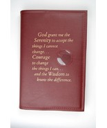 Alcoholics Anonymous AA Big Book Cover Serenity Burgundy Medallion Chip ... - $17.96
