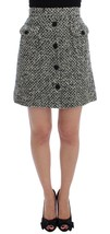 Dolce & Gabbana Gray Cashmere Bubble Above Knee Skirt - $318.78