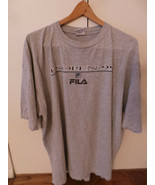 vintage US Tennis Open New York XL T Shirt from FILA 1999 Gray w Bold Le... - $23.99