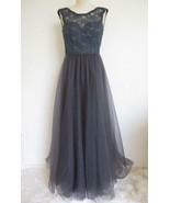 Mori Lee Madeline Gardner Evening Gown 00 XS Lace Tulle Full Skirt Charc... - $79.99