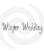 Winter Wedding Font 3smp-Digital ClipArt-Art Clip-Gift Tag-T shirt-Holiday - $2.50