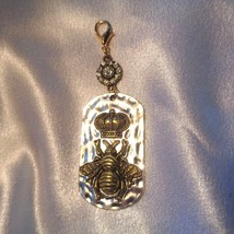 Glitzy Royal Purse Fob- Crown Purse Fob- Glamorous Purse Charm- Royal Glamor image 6
