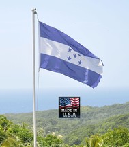 Honduras Hondurian 3x5 Resistente Super-Poly Interior/Exterior Bandera F... - $13.89
