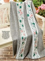 Z625 Crochet PATTERN ONLY Floral Trellis Throw Afghan Throw Pattern - $7.50