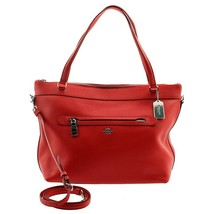 NWT COACH Luxury Tyler Tote Shoulder Bag Leather Crossbody True Red F546... - $216.92